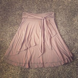 Light jersey multi-layered midi skirt by Downeast